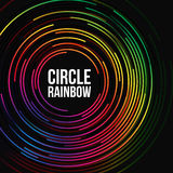 Abstrakte Hintergrundschablone mit Kreisregenbogenfarben Stockfotografie