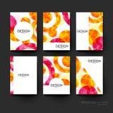 Abstrakte Hintergrundvektor-Broschürenschablone ENV 10 Lizenzfreie Stockfotografie