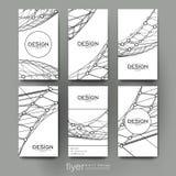 Abstrakte Hintergrundvektor-Broschürenschablone ENV 10 Lizenzfreies Stockfoto