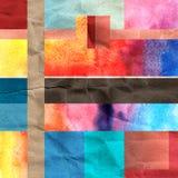 Abstrakte Hintergrundvierecke Stockfoto