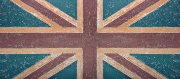 Abstrakte Hintergrundwand mit Flagge Lizenzfreie Stockbilder