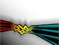 Abstrakte Hintergrundzeilen mit Punkten vektor abbildung