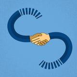 Abstrakte Händedruck-Geschäfts-Vereinbarungs-Konzept-Mischungs-Rennafroamerikaner-Geschäftsmann-Handerschütterung Stockfoto