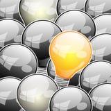 Abstrakte Idee von der Glühlampe Lizenzfreie Stockbilder