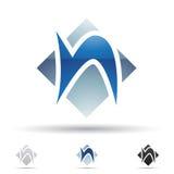 Abstrakte Ikone für Buchstaben N Stockfoto