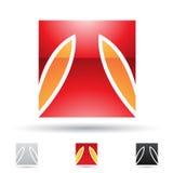 Abstrakte Ikone für Buchstaben T Lizenzfreies Stockbild