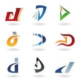 Abstrakte Ikonen, die Zeichen D ähneln Lizenzfreie Stockfotos