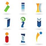 Abstrakte Ikonen für Zeichen I Lizenzfreie Stockbilder