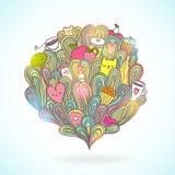Abstrakte Illustration über Mädchenträume und -wünsche Lizenzfreie Stockfotografie