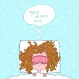 Abstrakte Illustration über Mädchenträume und -wünsche Lizenzfreie Stockfotos