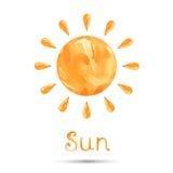 Abstrakte Illustration der Sonne lizenzfreie abbildung