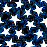 Abstrakte Illustration des Sternes in einem nahtlosen Muster lizenzfreie abbildung