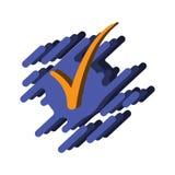 Abstrakte Illustration einer Zecke auf einem Hand gezeichneten Hintergrund Vektor auf weißem Hintergrund Lizenzfreie Stockfotos
