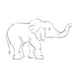 Abstrakte Illustration eines Elefanten Stockfoto