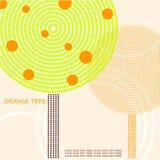 Abstrakte Illustration eines Orangenbaums. lizenzfreie abbildung