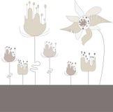 Abstrakte Illustration mit Blumen stock abbildung