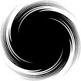 Abstrakte Illustration mit Spirale, Strudelelement, wenn mas befestigt wird vektor abbildung