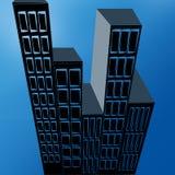 Abstrakte Illustration von Stadtgebäuden stock abbildung