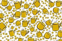 Abstrakte Illustrationen der Kaffeetasse, begrifflich Hintergrund, Becher, Getränk u. Details lizenzfreie abbildung