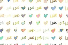 Abstrakte Illustrationen der Liebe für den Valentinstag, Feiern oder Jahrestag, begrifflich stock abbildung