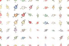 Abstrakte Illustrationen der Liebe für den Valentinstag, Feiern oder Jahrestag, begrifflich Kunst, Beschaffenheit, Vektor u. Gruß vektor abbildung