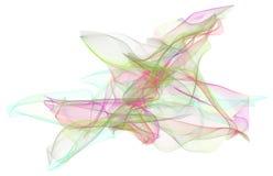 Abstrakte Illustrationen der rauchigen Linie Kunst, begrifflich Runde, Details, Hintergrund u. Design vektor abbildung