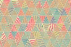 Abstrakte Illustrationen des Dreieckstreifens, begrifflich Details, bunt, Beschaffenheit u. Hintergrund vektor abbildung