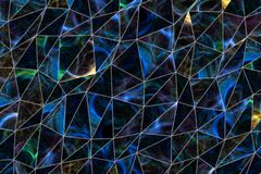 Abstrakte Illustrationen des Dreieckstreifens, begrifflich Digital, kreativ, Art u. Details vektor abbildung