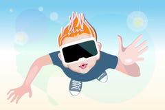 Abstrakte Illustrationsgefühle von der virtuellen Realität Lizenzfreies Stockbild