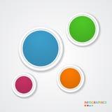 Abstrakte infographic Schablone mit Papiertags. Stockfoto