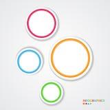 Abstrakte infographic Schablone mit Papiertags. Stockfotografie