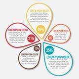 Abstrakte Infographic-Vektor-Schablone Stockfotografie