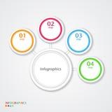 Abstrakte infographics Zahl-Wahlschablone. Stockfotografie