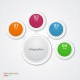 Abstrakte infographics Zahl-Wahlschablone. Lizenzfreies Stockfoto