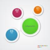 Abstrakte infographics Zahl-Wahlschablone. Lizenzfreie Stockfotografie