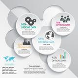 Abstrakte Informationsgrafikdesignschablone Lizenzfreie Stockbilder