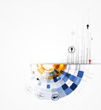 Abstrakte Internet-Computertechnologie-Geschäftslösung Stockbild