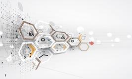 Abstrakte Internet-Computertechnologie-Geschäftslösung