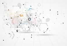 Abstrakte Internet-Computertechnologie-Geschäftslösung lizenzfreie abbildung