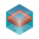 Abstrakte isometrische Würfel für Design Stock Abbildung