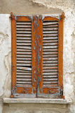 Abstrakte Jalousien Cavaria Varese Italien im Beton Lizenzfreies Stockbild