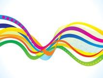 Abstrakte künstlerische kreative bunte Welle Lizenzfreie Stockbilder