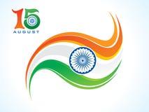Abstrakte künstlerische kreative indische Flagge Stockbilder