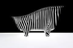 Abstrakte Karosserie von Zebra Stockfoto