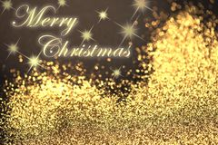 Abstrakte Karte der frohen Weihnachten Lizenzfreies Stockbild