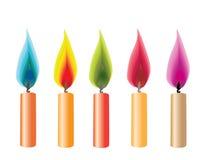 Abstrakte Kerzen lizenzfreie abbildung
