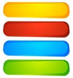 Abstrakte Knopf- oder Fahnenhintergründe, Formen Bunter Auszug stock abbildung