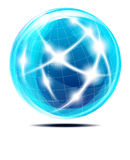Abstrakte Kommunikations-Kugel Lizenzfreies Stockfoto