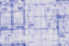 Abstrakte Konstruktionszeichnung Stockbild