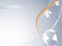 Abstrakte Konzeptidee des globalen Anschlußes lizenzfreie abbildung